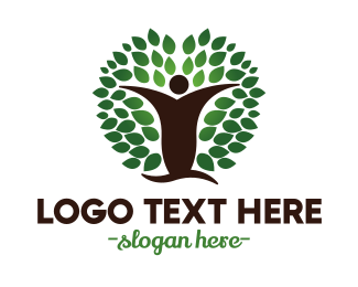 Human Tree - Oak Man logo design