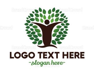 Human Tree - Oak Man logo design