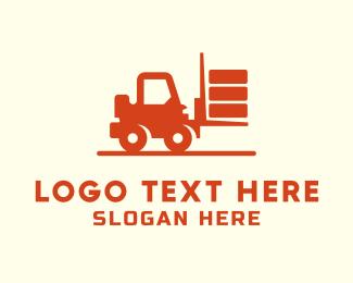 Cargo Shipping - Forklift Truck logo design