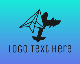 Paper Airplane - Paper Plane Logistics logo design