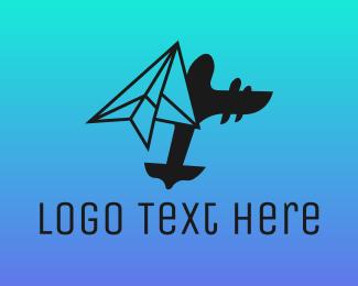 Aeroplane - Paper Plane Logistics logo design