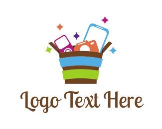 Tablet - Gadget Basket  logo design