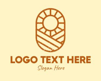Rustic Farm Sun Logo Maker