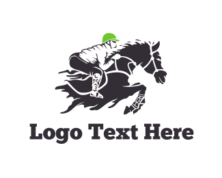 Riding - Equestrian Rider logo design