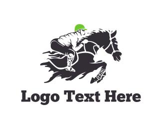 Bet - Equestrian Rider logo design