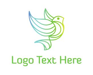 Quick - Gradient Bird logo design
