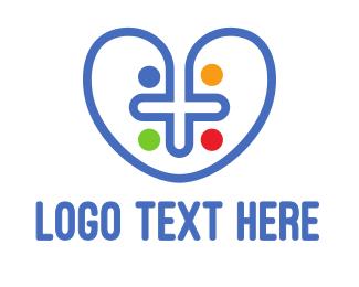 Catholic - Colorful Cross Heart logo design