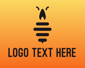 Insect - Black Candle Insect logo design