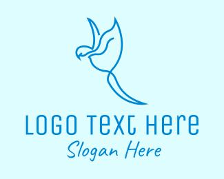 Birdwatching - Blue Minimalist Bird logo design
