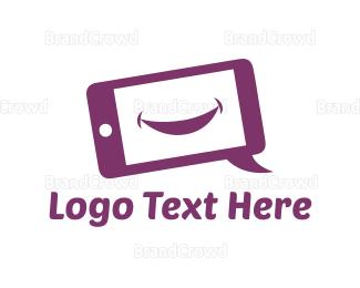 Language - Happy Phone logo design