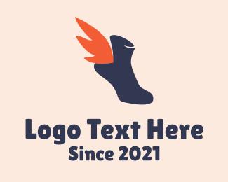 Runner - Winged Shoe Shop logo design