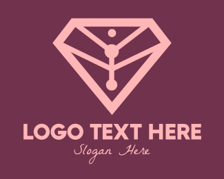 Pink Diamond - Elegant Pink Diamond logo design