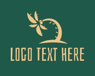 Coconut Tree - Tropical Coconut Tree Summer logo design