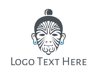 Yakuza - Tribal Tattoo Man logo design