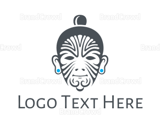 Man - Tribal Tattoo Man logo design