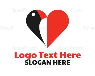 Bird House - Toucan Heart logo design
