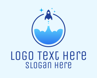 Space Ship - Rocket Launch  logo design