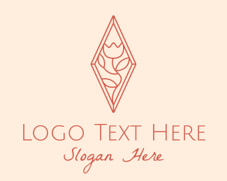 Wedding Coordinator - Elegant Rose Line Art  logo design
