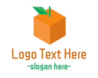 Orange Square - Orange Cube logo design