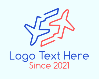 Jet Plane - Twin Airplane Letter S logo design