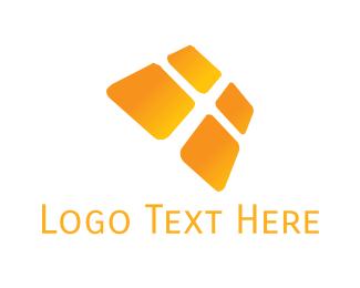 Solar Panel - Orange Window logo design