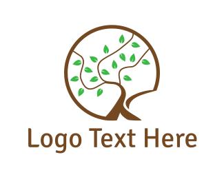 Letter K - Tree Letter K logo design