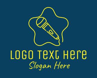 Gig - Star Karaoke Microphone  logo design