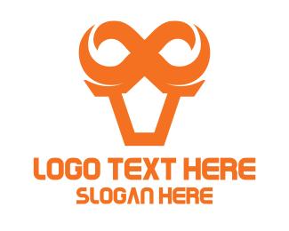 Bull - Infinity Bull logo design
