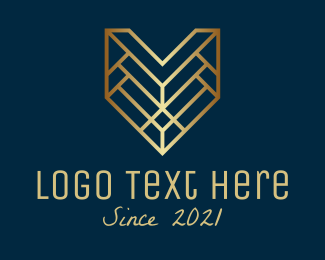 """Golden Letter V Badge"" by RistaDesign"