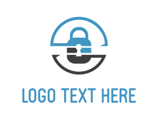 Private - Security Lock Circle logo design