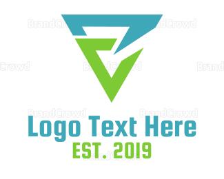 Ag - Tech E Triangle logo design