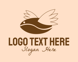 Coffee Bean - Coffee Fly logo design