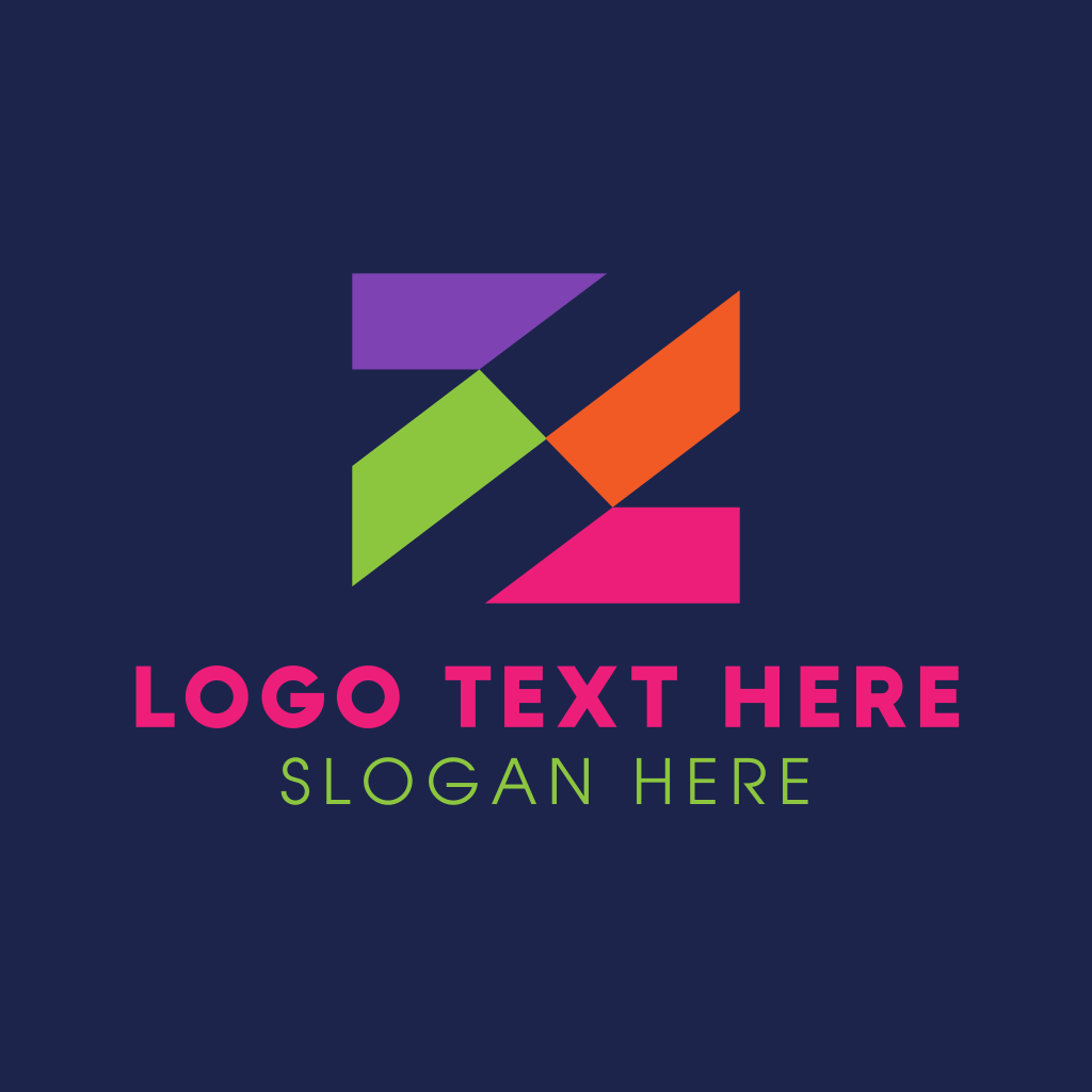 Multicolor Abstract Letter Z Logo