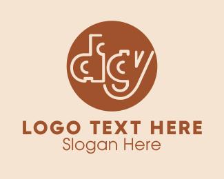Brown Circle Digy Logo