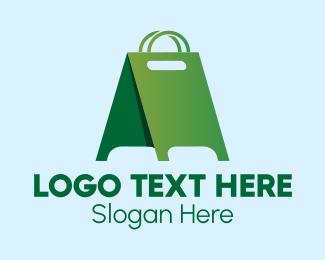 Ad - Green Shopping Advertisement logo design