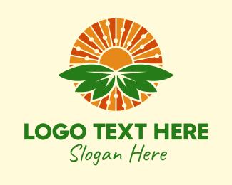 Fields - Nature Sun Leaves  logo design