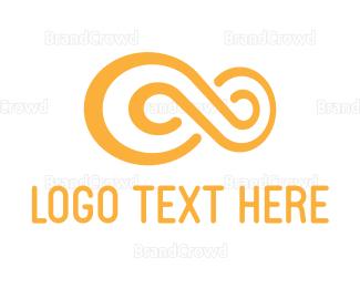 Yellow - Yellow Infinity Loop logo design
