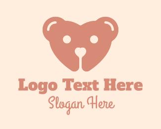 Teddy - Teddy Bear Heart  logo design