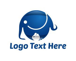 Wombat - Elephant & Mouse logo design