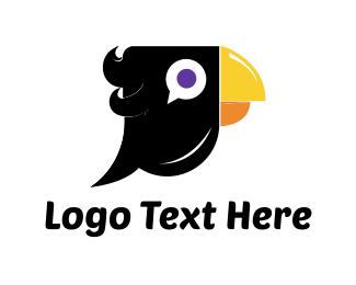 Chat - Black Parrot logo design
