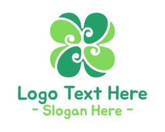 Lucky - Green Cloverleaf logo design