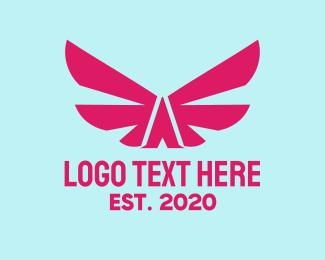 Gamer Girl - Pink Gamer Letter A  logo design