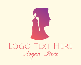Wife - Man & Woman Profile logo design