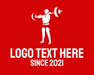 Fitness - Weightlifting Training logo design