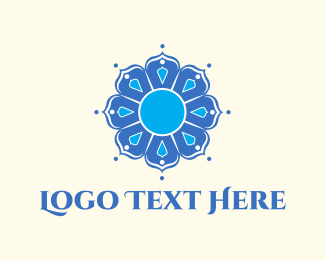 Aesthetic - Blue Mandala logo design
