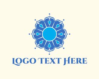 Beauty Shop - Blue Mandala logo design