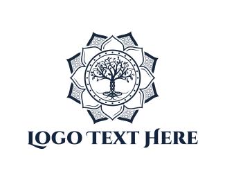 Wellness - Yoga Tree logo design