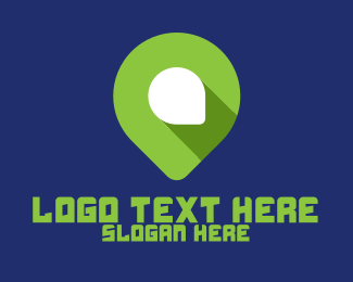 Pin - Modern Green Pin logo design