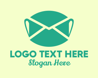 Surgical Face Mask - Face Mask Mail logo design
