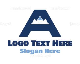 Adrenaline - Mountain Letter A logo design